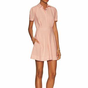 FREE PEOPLE Dream Chaser Mini Shirt Dress Pink-10